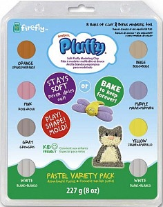 Набор для детей Sculpey Pluffy Multi Pack (пастель) 227г